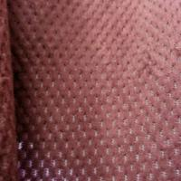 Pink Burnout Velvet Fabric Velboa Polyester Fabric For Home Textile Manufactures