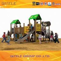 Safety Kids Outside Play Equipment With Plastic Wood Composites Manufactures