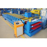 China New style double layer aluminium roof tiles roll forming machine on sale