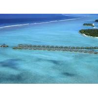 Belize / Maldives Overwater Bungalow With Light Steel , Over The Water Bungalows Manufactures