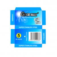 Goodmax Double Edge Stainless Steel Blades , Silver Men'S Shaving Razor Blades Manufactures