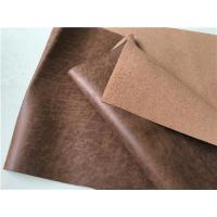 139 CM Width Light Brown Leather Upholstery Fabric Waterproof For Household