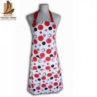Cotton Canvas Red And White Polka Dot Apron Custom Cooking Aprons Manufactures