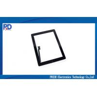 Black 9.7 inch Touch Screen Panel Front Glass Display For Apple iPad 4 Manufactures