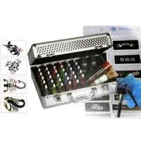 China 38 Colors Tattoo Pigment Temporary Glitter Tattoo Kit with Mini Air Compressor on sale