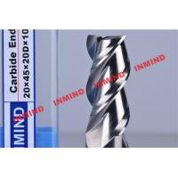 HRC50 End Mill Bits For Aluminum 3 Flute No Coating Grain Size 0.8 um Bright Surface Manufactures