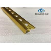 Hole Punched Shiny Golden Aluminium Trim Round Floor strip Profile