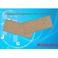 China WANLONG black diamond segment for south africa ,india ,diamond cutting segment for hard stones cutting and grinding on sale