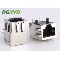 China 90 Degree cat 5 5e RJ45 Single Port Integrated magnetics connector module on sale