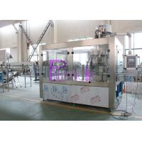 PLC Control Water Production Line , 15000BPH Plastic Bottle Monoblock Filling Machine Manufactures