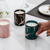 Home Decoration Scented Soy Candles Natural Scented Candles Marble Candle Jar With Lids Manufactures