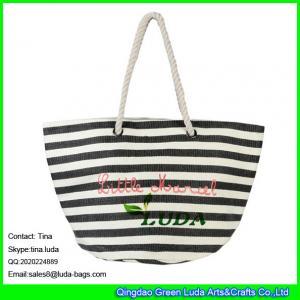 China LUDA striped straw shoulder bag fashion women big size straw bags 2015 on sale
