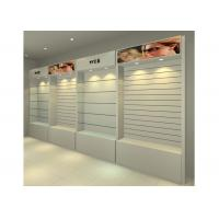 MDF Glossy White Wall Mounted Display Cabinets Freestanding With Light Box Manufactures