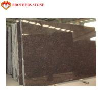 Natural Stone Tan Brown Granite Tiles Polished Surface Finish 17mm-200mm Thickness