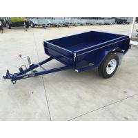 6x4 Tandem Box Trailer Single Axle Utility Trailer 750KG With Mudguards Checker Plate Manufactures