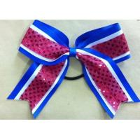 Custom Made Cheerleading Hair Bows for College Cheer Uniforms Manufactures