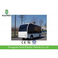 12 Seats Autonomous Shuttle Bus , City Self Driving Bus With Satellite Mapped Route Manufactures