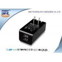 China Dual Port 5v 2a Wall Mount Charger Ac Dc Switching Adapter Black Color wholesale