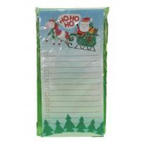 Christmas Custom Printed Notebooks Rectangle Shape Listpad 80gsm Inner Paper Manufactures