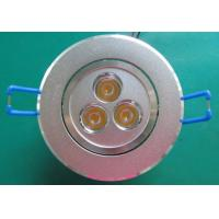 China High Brightness 3*1W Led Ceiling Downlights with vibration-resistant for conference rooms on sale