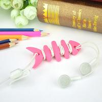 Colorful Households Products Earphone Line Twister Fishbone Cable Holding Management Manufactures