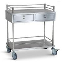 Stainless Steel Medical Trolley Hospital Drug Delivery Trolley with  Drawers Manufactures