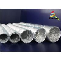 Silver 5 Fire Rated Flexible Duct Aluminum For Air Conditioning System Manufactures