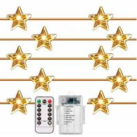 40 LEDs Outdoor Battery Operated String Lights 8 Modes Remote Dimmer Timer Waterproof 14FT Rope Twinkling Lights for Pat Manufactures