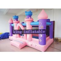 Pink Commercial Princess Bouncy Dream Houses For Toddler / Kids Soft Play Manufactures