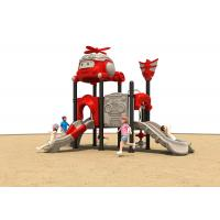 Baby Swing And Slide Set Plastic Playgrounds For Backyard , CE / ISO9001 for sale