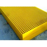 Quality Yellow Fiberglass Grating Panels For Chemical Plant Walkway Platform for sale