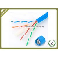 Cat6E UTP 23AWG Gigabit Network Cable For Security POE Monitoring Project Manufactures