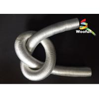Round 6 Duct Insulation Sleeve Silvery Aluminum For Car Engine Manufactures