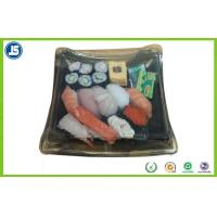 Biodegradable Plastic Food Packaging Trays Sushi Tray With Clear Lid Manufactures