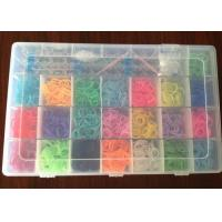 China Personalized Silicone Wristband Bracelet Rainbow Loom Band Kits with 22 colors on sale