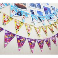 Customized Waterproof Advertising Flag Banners , Christmas Create Custom Flag Bunting Manufactures