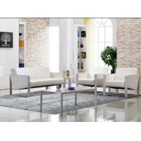China High quality PU/Leather upholstered office sofa with metal frame base on sale