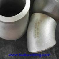 45D 2 Elbow Sch40 ASME B16.9 2507 Stainless Steel Elbow , Super Duplex ASTM A32750 Pipe Fitting Manufactures