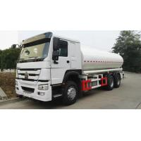 10 Wheeler 20m3 Oil Tank Trailer SINOTRUK HOWO 6x4 Fuel Tank Trucks With 371HP Engine Manufactures
