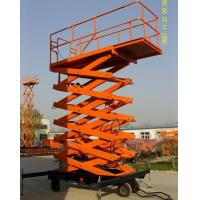 electricity, manual device, or diesel Scissor lift platform 8m Load 300 - 1000KG for construction, warehouse, granary Manufactures