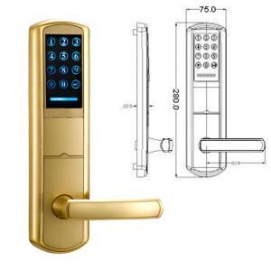 Quality High Security Zinc Alloy Door Handle Lock Smart Key Password intelligent Door for sale