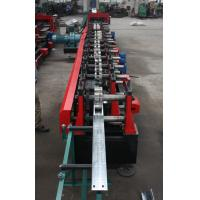 Customized C Z Purlin Roll Forming Machine , Electric Fully Automatic PLC  Control Export Macedonia Manufactures
