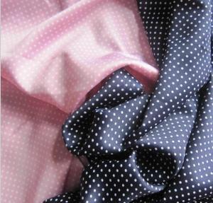 Lean Textile spadex stretch satin fabric dot printed