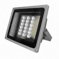IR Illuminator with 18pcs 2W High-power LED, Supports Viewing Angle from 15° to 90° Manufactures