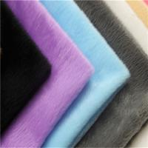 Quality 100% polyester plush fabric velboa fabric india knitted short pile plush fabric for sale