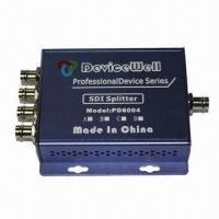 HD/SDI Splitter, 1-in-4CH out SDI Clock Regenerate, Anti-Shaking Design/Supports Up to 1080p at 60Hz Manufactures