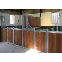Portable Bamboo Board Horse Stable Box / Metal Horse Fence With Sliding Door Manufactures