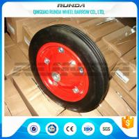 Tubeless Solid Rubber Wheelbarrow Tyres13inches Red Color Skidding Resistant Manufactures