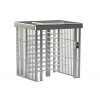 China Double Lane Access Control Turnstile Full Height Brushed Surface Treatment on sale