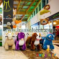 China Hansel coin operated battery operated kids car animal mall rides mall rides on animals on sale